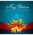 Christmas celebration sparkling postcard vector image