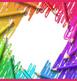 colored pencils drawing background vector image