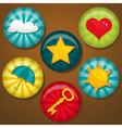 Cute badges vector image vector image