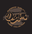 denim handwritten lettering made in old school vector image vector image