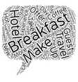 Eat Up Travelers Enjoy Breakfast On The Road text vector image vector image
