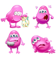 Four beanie monsters vector image vector image