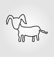 goat isolated on a white background vector image