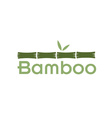 green bamboo stems and leaves vector image