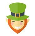 happy face leprechaun cartoon vector image vector image