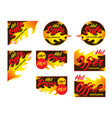 Hot sale price offer deal labels stickers corner