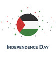 independence day of palestine patriotic banner vector image