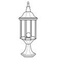 lantern out line vector image vector image
