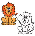 lion coloring book vector image vector image