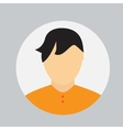 Man Face Circle Icon in Trendy Flat Style vector image vector image