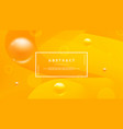 orange abstract background with a dynamic liquid vector image vector image
