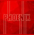 phoenix city name vector image vector image