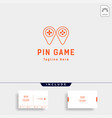 pin location logo design template concept vector image vector image