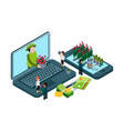 plants and flowers online shop isometric vector image vector image