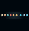realistic 3d detailed solar system planet set vector image