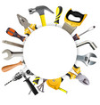 round frame with tools vector image vector image