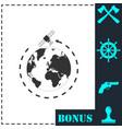 satellite icon flat vector image