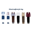 School uniform for boys flat vector image vector image