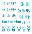 Set business icons management and human resources vector image vector image