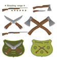 set of different kinds of weapons vector image