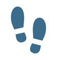 shoe sole print footprint icon vector image vector image