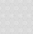 Slim gray striped hexagons forming tetrapods vector image vector image