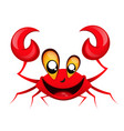 smiling happy crab vector image vector image