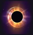 solar eclipse astronomical phenomenon - full sun vector image vector image