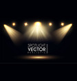 spotlight transparent light effect show design vector image vector image