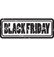 stamp tag for black friday vector image