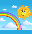 sun with clouds theme 2 vector image vector image