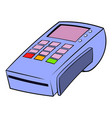 terminal for credit card icon cartoon vector image vector image