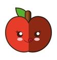 tomato fresh vegetable kawaii style isolated icon vector image