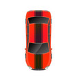 top view realistic glossy red sport car vector image