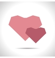 two hearts icon Eps10 vector image vector image