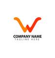 w company logo template design vector image vector image