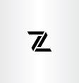 z letter icon sign black symbol vector image vector image