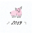 zodiac symbol of the new year 2019 piggy vector image vector image