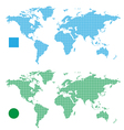 World Maps abstract rectangle and dot vector image