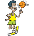 Cartoon basketball player spinning vector image
