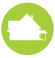 Cottage silhouette icon vector image