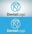 dental logo 2 vector image