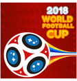 2018 world football cup flying socer ball red back vector image vector image