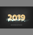 2019 new year golden banner vector image