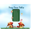 a fairy times tables vector image vector image