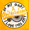 amsterdam poster t shirt graphic design vector image vector image