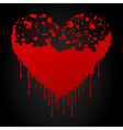 bloody heart vector image vector image