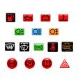 car warning light vector image