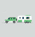 caravan car vector image
