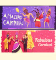 carnival banners set vector image